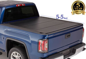 5 5 Flip Hard Tri Fold Bed Cover For 2014 2020 Tundra Pickup Truck