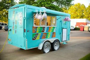 2002 6 X 14 Hmde Shaved Ice snowball And Cotton Candy Concession Trailer For S