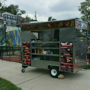 2015 Compact Food Concession Trailer street Food Cart Trailer For Sale In New Je