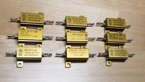 Vishay dale Re65g50r0c02 Wirewound Resistors Chassis Mount 10w 50ohm qty 9