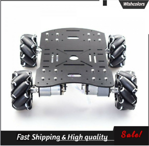 4wd60mm Mecanum Wheel Robot Car Chassis Kit W Mg513 Encoder Motor Raspberry Pi