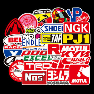 50pcs Jdm Sticker Pack Motorcycle Racing Car Motocross Helmet Graffiti Decal Lot