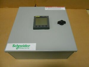 New Square D Schneider Pm800 Pm820u Pm8rda Powerlogic Power Meter With Enclosure