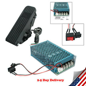 10 50v Dc Motor Speed Controller Reversible Pwm Control Soft Start Wi Pedal Usa