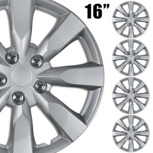 4pc Set 16 Inch Chrome Hubcaps Wheel Cover Oem Replacement Full Lug Skin Durable