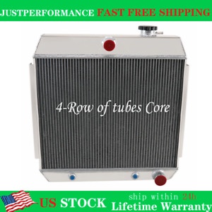 4 Row Radiator For Chevy Nomad Bel Air Small Block 150 210 Sbc V8 1955 1956 1957