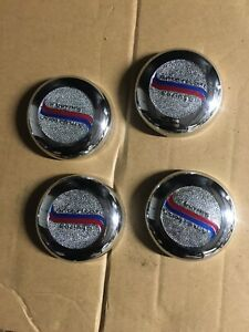 American Racing Chrome Wheel Center Caps Part 898042 4 Pieces Muscle Cars
