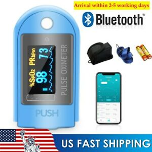 Bluetooth Oximeter Pulse Finger Blood Oxygen Saturation Heart Rate Monitor bat