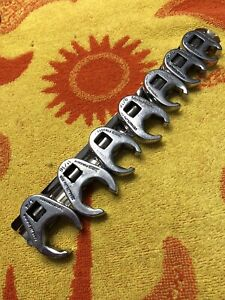 Snap On 7 Piece 6 Point Crowfoot Wrench Set Sae 3 8 3 4