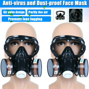 Us_ Protection Emergency Gas Mask Respirator Filter Chemical Safety Goggles Mili