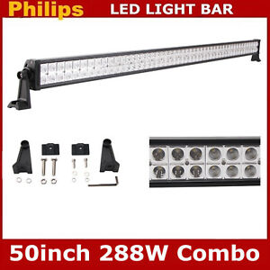 50inch 288w Led Light Bar Spot Flood Combo Offroad Driving Lamp Truck 4wd 42 52