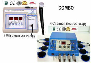 Chiropractic Combo Ultrasound Therapy 1mhz With 4 Channel Electrotherapy Unit Cb
