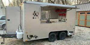 8 X 12 Wells Cargo Used Food Concession Trailer Mobile Kitchen Unit For Sale
