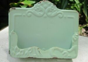 Shabby Chic Vintage Style Business Card Holder Soft Mint Green Mermaid Soap