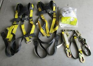3 Guardian Fall Protection Safety Harness M l Plus 2 Shock Absorbing Lanyards
