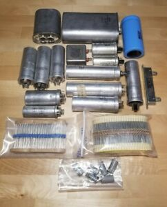 Large Lot Capacitors Sprague Cde Mallory And Resistors