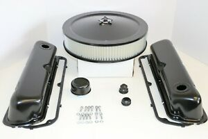 Sb Ford Black Engine Dress Up Kit Valve Covers Air Cleaner Gaskets Sbf 289 302