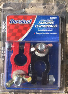 Dl06071 Epoxy Coated Duralast Marine Battery Terminals 2 Pcs Red Black
