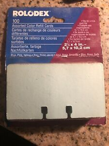 Vtg Rolodex Refill Cards File Pastel Blue Pink Yellow 2 1 4 X 4 Unlined Office