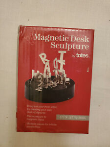 Totes Magnetic Letters Sculpture Steel Office Desk Toy Stress Relief Fidget