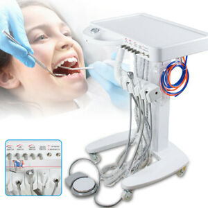 Us Dental Portable Delivery Unit system Mobile Cart With Weak Suction 4 Holes