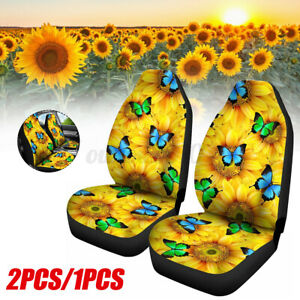 Universal Car Seat Covers Washable Protector Full Seat Front Back Flower Kits