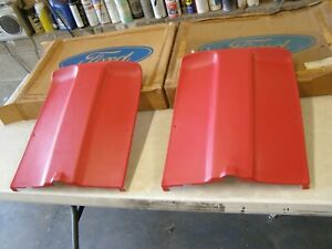 Nos Oem Ford 1974 1978 Mustang Ii 2 Seat Backs Pair 1975 1976 1977 Red Interior