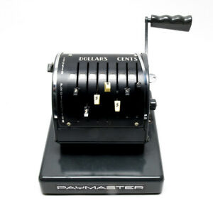 Vintage Paymaster Check Writer X550 In Excellent Working Condition With Cover