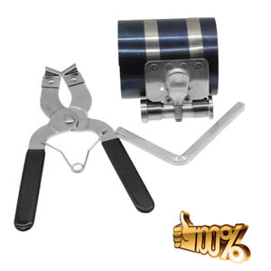 2pcs Ratchet Style Piston Ring Compressor And Installer Pliers Removal Tool Usa