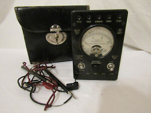 Vintage Western Electric Ohms Meter W Case Volts Dc Ac Milliamperes Model 697