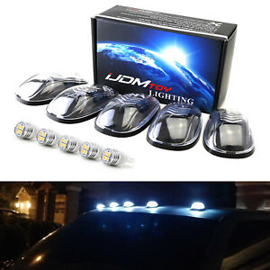 Clear Lens White Full Led Cab Roof Clearance Marker Light Kit For Truck Suv 4x4