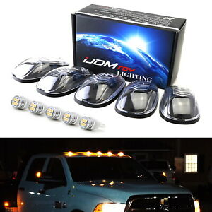 Clear Lens Amber Full Led Cab Roof Clearance Marker Light Kit For Truck Suv 4x4