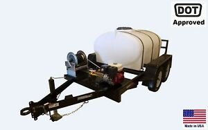 Pressure Washer Commercial Trailer Mounted 500 Gallon Tank Highway Ready