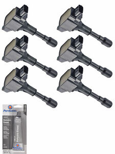 Set Of 6 Ignition Coil Tune Up Grease For Nissan 370z Infiniti G37 Q60 Uf617
