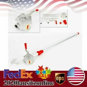 Manual Rotary Gas Oil Fuel Hand Pump 55 Gallons Self Priming Pump Transfer Tool