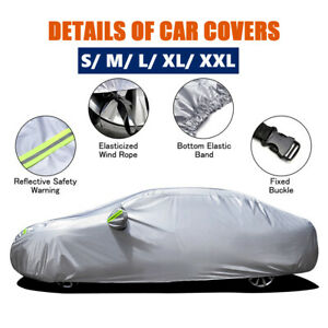 Car Cover Waterproof Sun Uv Snow Dust Rain Resistant Protection All Sedan C0a8