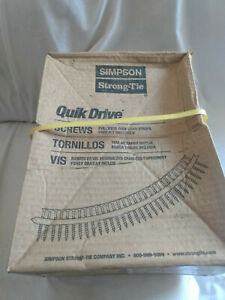 Simpson Strong tie Quick Drive 8 2 Collated Flooring Screws 2 000 Count