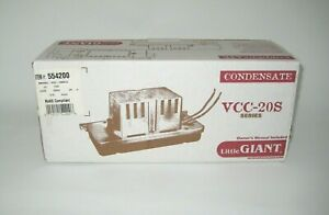 Little Giant Low Profile Condensate Pump Vcc 20uls
