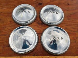 Ford Hubcaps X 4 Pieces 1960 1961 1962 1963 Bottle Cap Dog Dish Poverty