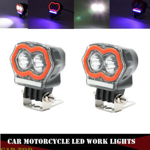 2x Car Motorcycle Led Work Lights Auto Spotlight External Fog Headlight Lamp 12v