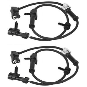 2x Abs Speed Sensor Cable Harness Fit For Gmc Chevrolet Front Wheel Left Right