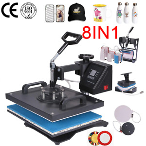 8in1 30 38cm Combo Heat Press Machine Sublimation Printer For Tshirt mug case