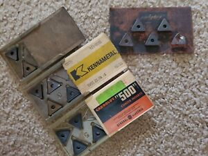 Lot Of 14 Triangular Shaped Carbide Inserts