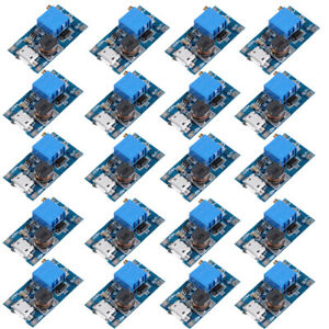 20pcs Mt3608 Micro Usb 2a Dc dc Step Up Adjustable Boost Converter Power Module