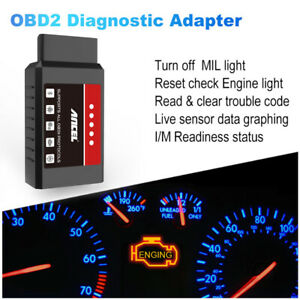 Elm327 Bluetooth Auto Obd2 Scanner Code Reader Check Engine Car Diagnostic Tool