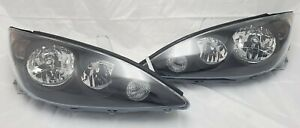 For 2005 2006 Toyota Camry Replacement Black Housing Headlight Set Clear Lens