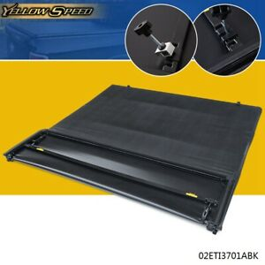 For 2002 2017 Dodge Ram 1500 2500 3500 Lock 6 5ft Bed Four fold Tonneau Cover