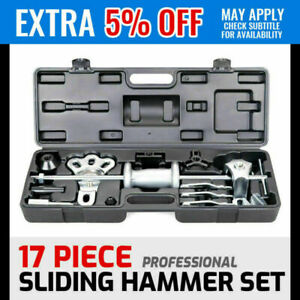 17pc Dent Puller Body Repair Garage Auto Tools Trucks 10lbs Slide Hammer Set