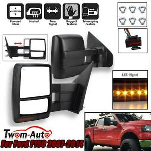 Passenger Driver Side Towing Mirrors Power Heated Led Signal For 04 06 Ford F150