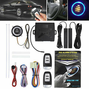 Car Auto Alarm System Security Keyless Entry Push Button Remote Engine Start Kit